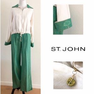 St. John Sport Vintage Tracksuit Pant Suit Set